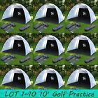 Foldable Golf Practice Driving Chipping Hit Net System Aid Training Cage LOT BP