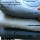 TO Auto 4pc Front 2 Seat Cover PU Leather 8mm Thick Triple Stitched for TOYOTA