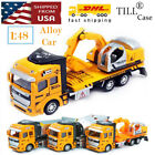 Large Alloy Car Kids Toy Engineering Car 1:48 Pull Back Car Model Toy Excavator