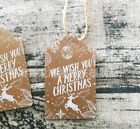 50pcs craft paper hang tags Christmas party favor label price Xmas gift card DIY