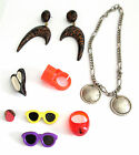 LOT OF COSTUME JEWELRY including 2 sunglass PINS & RING w/dead insect in plastic