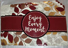 ENJOY EVERY MOMENT Kitchen PLACEMATS Set of 4 Soft Vinyl NEW