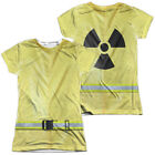 Hazmat Suit Halloween Costume Juniors T-shirt Front & Back