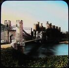 HAND COLOURED Glass Magic Lantern Slide CONWAY CASTLE C1890 WALES . PHOTO