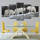 5 PCS Landscape Prints Paintings Home Decor Living Room Snow Wolfs Wall Art