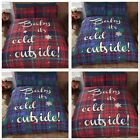 Rapport Baby It's Cold Outside Tartan Duvet Cover Bedding Set Red or Blue