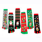 Winter Christmas Cartoon Gift Five Fingers Socks Keep Warm Long Toe Sox Unisex