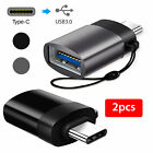 Metal 2-Pack USB C Adapter Hi-Speed USB-C to USB-A 3.0 for USB Type-C Devices