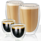 Double Walled Insulated Glasses | Thermal Coffee Glass Mug | M&W