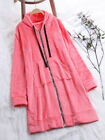 Plus Size Womens Warm Fleece Long Sleeve Hooded Cardigan Zip Up Jacket Coat Tops