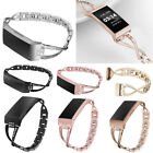 Bling Stainless Steel Band Bracelet Dressy Wristband Women for Fitbit Charge 3 image