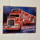 Coca Cola truck Sign Christmas 2 Sizes Available ideal for pub, bar, Man Cave