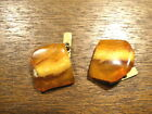 10.6 gr.NATURAL OLD ANTIQUE  BALTIC AMBER  CUFFLINKS  波羅的海琥珀