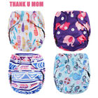 Newborn Pocket diaper NB Cloth Diaper Belly Button Bamboo Charcoal Double Gusset