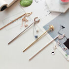 Vintage Women's Long Pin Hair Pin Stick Crystal Hair Clips Accessories Pendent