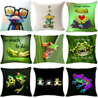 Frog Quote Pillow Cover Sofa Pillow Cotton Throw Pillow Square Cushion Cover