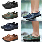 New Mens Genuine Leather Breathable Mesh Slip On Casual Shoes Loafer Shoes Lot