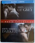 NEW FIFTY SHADES UNRATED 2 MOVIE COLLECTION BLU RAY DIGITAL 2 DISC STEEELBOOK
