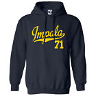 Impala 71 Script & Tail HOODIE - Hooded 1971 Lowrider Sweatshirt - All Colors