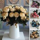 New Hot Vivid 6 Branches Autumn Artificial Fake Peony Flower Posy Home Hotel Roo