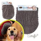 Scruffs Noodle Dog Wash Grey Microfibre Absorbent Quick Drying Mitt / Towel