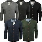 Mens Cardigan Jumper Brave Soul Ghazali Y Neck Button Up Sweater