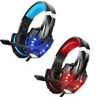 Gaming Headset 3.5mm Headphone with Microphone LED Light for Laptop PS4 PC lot