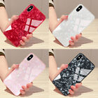 Luxury GLASS Shockproof Silicone Protective Case Cover Fr iPhone X 8 7 6s Plus N