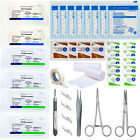 47pc Advanced Surgical Suture Kit - 3 types of Sutures - Travel Trauma Pack EMT