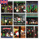 Christmas Xmas Santa Removable Window Stickers Art Decal Wall Home Shop Decor Wh