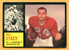 1962 Topps Football #148 Bill Stacy (VG-EX) -- St Louis Cardinels