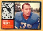 1962 Topps Football #145C Gerry Perry (VG-EX) -- St Louis Cardinels