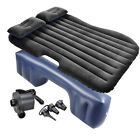 Car Air Bed Inflatable Mattress Back Seat Cushion Two Pillow Sofa Travel Camping