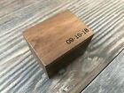 Custom Engraved Magnetic Rustic Wooden Ring Box | Engagement Ring Box | Proposal