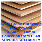 Hardwood Ply Plywood 8Ft X 4Ft Sheets 2440 X 1220Mm 3.6 5.6 9 12 15 18Mm Collect