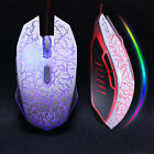 Wired Gaming Mouse USB Optical PC Laptop Gamer Mice LED Light Computer Accessory