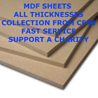 MDF 8ft x 4ft sheets (2440mm x 1220mm) 3 6, 9 12 15 18 25mm COLLECT ONLY CF48