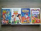 WALT DISNEY VHS TAPE LOT OF 4: TOY STORY 1+2/ OLIVER & COMPANY/ SNOW WHITE
