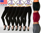 3- 6- 12 PACK Women Seamless Fleece Lined Leggings Thick Winter Warm Thermal lot