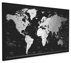 Time Zones Map of the World Box Canvas and Poster Print (290)