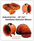 10/12'' Extractor Fan Blower portable 5m Duct Hose Garage Ventilator Ventilation