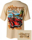 Corvette Beach Club Khaki Cotton T-Shirt