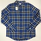 Men's Sonoma Big & Tall The Supersoft Flannel Button Front Long Sleeve Shirt