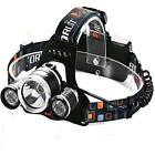 LED Headlamp Headlight Lumen Flaslight Torch Wall Charger Camping Hunting Night