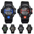 Men Chronograph Waterproof Digital Watch Rubber Strap Military Pilot Wristwatch
