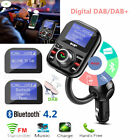 Car DAB+Radio Receiver Adapter USB AUX Bluetooth FM Transmitter Charger U Disk