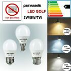 LED 3W/5W/7W Golf Ball Light Bulbs Globe Day Light Cool Soft White B22 E27 E14