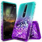 Nokia 6.1 (Nokia 6 2018) Case | Liquid Glitter Shockproof Bling TPU Cover