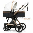 Multifunctional Baby Stroller Light Folding Carriage Newborn Car Seat Four Wheel