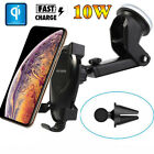 10W Qi Wireless Charger Fast Charging Car GPS Phone Mount Holder For Smart Phone
